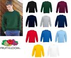 Fruit of the Loom Set-in sweat All Colours & Sizes
