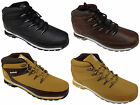 New Mens Timbo Style Boots Black Brown Tan Faux Leather Casual Hiking Trail