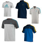 New Mens Gents Crew Neck Polo Adidas Original Tee T-shirt UK Size S M L XL XXL