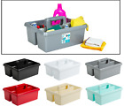 PLASTIC KITCHEN CLEANING UTILITY ORGANISER STORAGE BOX TIDY CUTLERY HOLDER CADDY