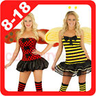 New Ladies Bee Lady Bug Fairy Tale Fancy Dress Up Costume Party Outfit Halloween