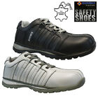 MENS SAFETY BOOTS LEATHER STEEL TOE CAPS ANKLE TRAINERS HIKING SHOES SIZE 6-13UK