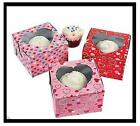 Love Hearts Cupcake Boxes AS LOW AS 53¢ea Wedding Favor SHOWER #321301