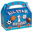 All Star 1st Birthday Treat Boxes AS LOW AS 53¢ea Birthday Favor Loot #706467