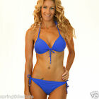 ♥ JASMINE Blue Push Up Padded Triangle Bikini SEPARATES - Swimsuit 8 10 12 14 ♥
