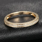 Milgrain Solid 14K Yellow Gold Diamonds Wedding Half Eternity Matching Band Ring