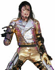 Michael Jackson World History Tour Jacket Gold Deluxe Halloween Adult Costume