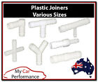 Plastic Barbed Connector Pipe Hose Joiner Tubing Fittings Air Fuel Water Petrol
