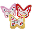 DAUGHTER SENTIMENT CUSHION. BUTTERFLY DESIGN. GREAT BIRTHDAY / CHRISTMAS GIFT