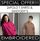 PERSONALISED EMBROIDERED WORKWEAR PACKAGE 2 X HOODIES 2 X POLO T-SHIRTS UNIFORM
