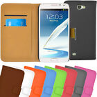 New Samsung Galaxy Note 2 II N7100 Wallet Flip Leather Stand Case / Cover