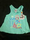 BNWT ~ MAMBO GIRLS GREEN SWING STRIPE TANK TOP ~ CHOOSE SIZE 2 or 5 ~ NEW