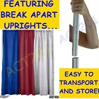 10 FT HIGH x 10 FT WIDE PIPE AND DRAPE KIT (WITH PREMIUM DRAPES) - PIPE & DRAPE