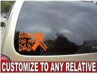 "CUSTOMIZES CAR WINDOW ORANGE ""LEUKEMIA CANCER RIBBON"" VINYL DECAL 7""X5"""