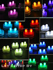 30 SUPER Bright Dual LED Floral Tea Light Submersible Floralyte Party Wedding