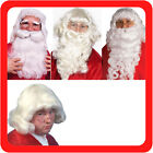 New Adult Mens Womens Fancy Dress Up Party Costume Wig Christmas Santa White