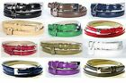 Skinny Thin Belt Patent Leather Womens Half Inch 12 Colors