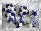 Brides,Bridesmaids,Flowergirl wedding bouquet, buttonholes,corsages Purple,Ivory