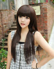 New Style Women&Girls' Sexy Long Fashion Straight Hair Wig 3 Colors Available