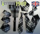Menzies Tie Bow Black And White Tartan Ties And Accessories