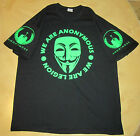 NEON GREEN We are Anonymous We are Legion T-shirt OCCUPY 99% Anon up to 5XL