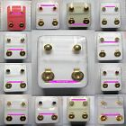 STERILE Package 24ct GOLD Plated STUD Earrings in Assorted designs & Shapes