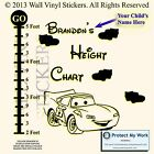 Lightning McQueen  Wall Stickers Height Chart Personalised Children BEST DEAL FT
