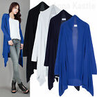 AnnaKastle New Womens Open-Knit Draped Front Wrap Cardigan Sweater Size S - M