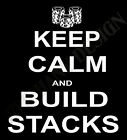 Card Player T-Shirt Poker Texes Hold 'em Keep Calm And Build Stacks Mens Ladies