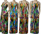 Strappy Summer Maxi Dress UK Size 10 - 26 (BIG-FLO-D13) In Various Lengths