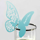 10 butterfly name place card glass placecards favors wedding table centrepiece
