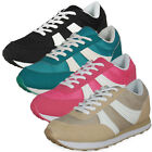 LADIES WOMENS GIRLS LACE UP SPORTS WALKING JOGGING RUNNING TRAINERS GYM SHOE SIZ