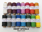 Natural Hemp Cord 10lb 0.5mm 310feet/95m 50gram Spools in 20 COLORS AVAILABLE