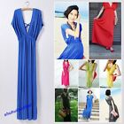 Sexy 2013Hot Sale Women Girls' Deep V Neck Sleeveless Cotton Long Dress 8 Colors