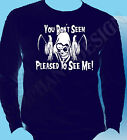 The Grim Reaper Gothic Mens Long Sleeve T-Shirt Heavy Rock Metal Fear Don't Cult