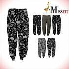 New Plus Size Womens Palazzo Wide Leg Flared Trousers Ladies Print Pants W-3409