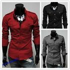 Hot Sale Men's Designer Military Slim Casual Shirts Tops Sport Shirts S,M,L,XL