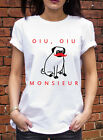 Oui Oui Monsieur Pug  Tshirt French Pup Funny Sir Dog Hipster Cute T Shirt J0521