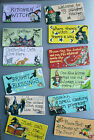 Funky Witch Wicca ~ Cat ~ Bright Blessings ~ Board Fridge Magnet ~ Smiley Signs