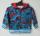 Boys Spiderman Long Sleeve Jumper Hoodie Jacket 12mths,24mths,18mths 36mths BNWT