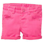 BNWT GIRLS FLUORO PINK STRETCH ADJUSTABLE SHORTS CHOOSE SIZE 6-12M or 18-24M NEW