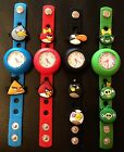 Angry Birds Watch Black / Blue / Red / Green Popper EVA Strap + 2 Charms Jibbitz