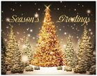 Your Words BUSINESS PERSONAL Golden TREES CUSTOM Christmas CARDS USA