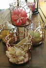 Rusty Antique Flower Metal Wire Votive/tea-light Candle Holder ~4 Colors~NWT