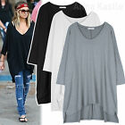 AnnaKastle New Womens Hi-Lo Hem Oversized Cape Long Top Tunic Size SM ML XL
