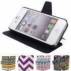 New Magnet Flip Leather Durable Pouch Pocket Protect Case Cover for iPhone 4 4S