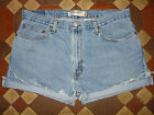 VINTAGE BLUE LEVI DENIM SHORTS SIZE 10/12//14/16/18/20/22 HIGH WAIST CUT OFF