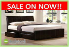 New AFS Faux Leather bed With 4 Drawers 4ft6 & 5ft Black & Brown