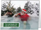 UR Words BUS PERSONAL Reindeer SANTA Hot Tub Humorous CUSTOM Christmas CARDS USA