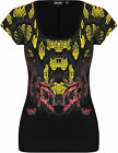 Just Cavalli Cap Sleeve Printed Top